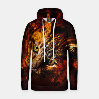 Miniaturka gxp scary lurking cat from right splatter watercolor Hoodie, Live Heroes