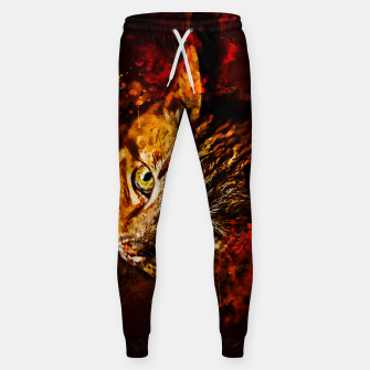 Miniaturka gxp scary lurking cat from right splatter watercolor Sweatpants, Live Heroes