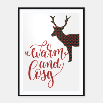 Miniaturka Warm and Cosy - deer silhouette Framed poster, Live Heroes