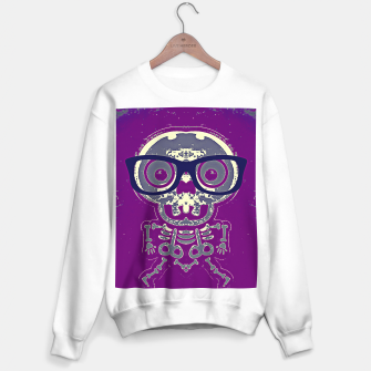 Thumbnail image of black skull with glasses and purple background Sweater regular, Live Heroes