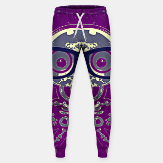 Thumbnail image of black skull with glasses and purple background Sweatpants, Live Heroes