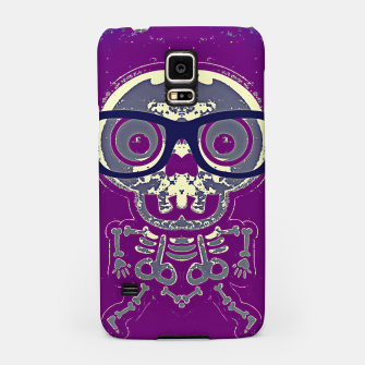 Thumbnail image of black skull with glasses and purple background Samsung Case, Live Heroes