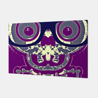 Thumbnail image of black skull with glasses and purple background Canvas, Live Heroes