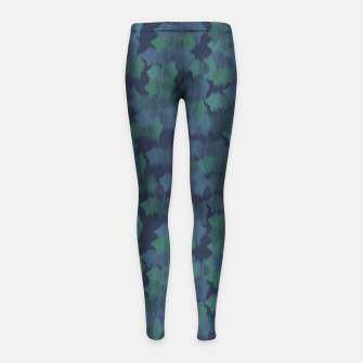 Thumbnail image of Blues and Greens Girl's leggings, Live Heroes