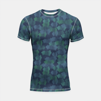 Thumbnail image of Blues and Greens Shortsleeve rashguard, Live Heroes