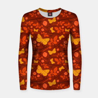 Thumbnail image of Birds And Blooms - Golden Butterfly Women sweater, Live Heroes