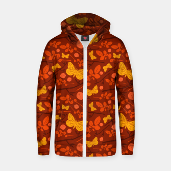 Thumbnail image of Birds And Blooms - Golden Butterfly Zip up hoodie, Live Heroes