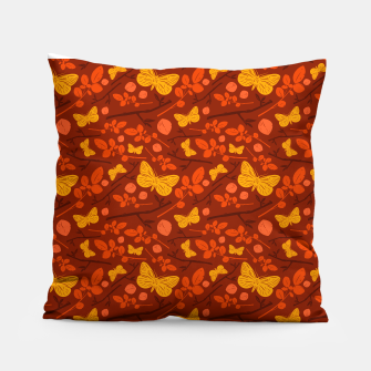 Thumbnail image of Birds And Blooms - Golden Butterfly Pillow, Live Heroes