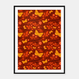 Thumbnail image of Birds And Blooms - Golden Butterfly Framed poster, Live Heroes