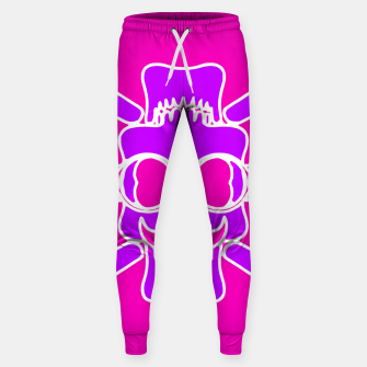 Miniature de image de purple skull with glasses and mustache and pink background Sweatpants, Live Heroes