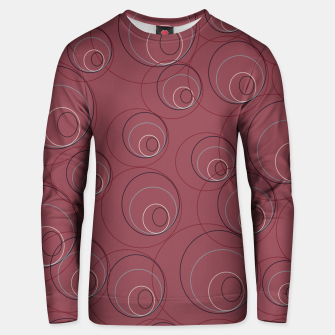 Miniaturka Red Blue Navy and Beige Overlaying Circles on Red Unisex sweater, Live Heroes