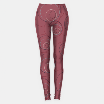 Miniaturka Red Blue Navy and Beige Overlaying Circles on Red Leggings, Live Heroes