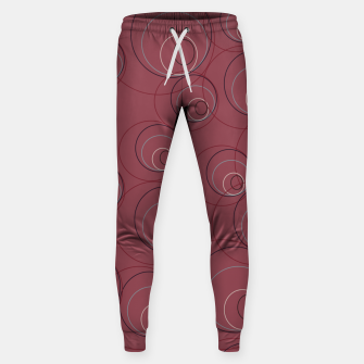 Miniaturka Red Blue Navy and Beige Overlaying Circles on Red Sweatpants, Live Heroes