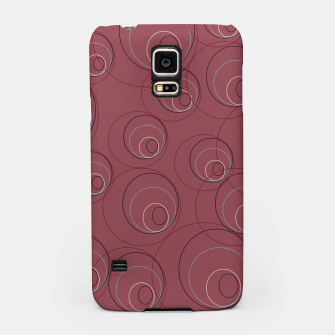 Miniaturka Red Blue Navy and Beige Overlaying Circles on Red Samsung Case, Live Heroes