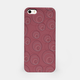 Miniaturka Red Blue Navy and Beige Overlaying Circles on Red iPhone Case, Live Heroes