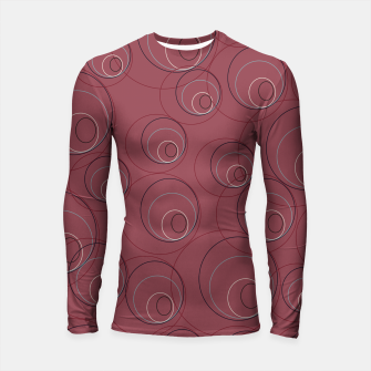 Miniaturka Red Blue Navy and Beige Overlaying Circles on Red Longsleeve rashguard , Live Heroes