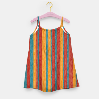 Miniaturka Colorful stripes Girl's dress, Live Heroes