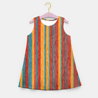 Miniaturka Colorful stripes Girl's summer dress, Live Heroes