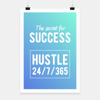 Thumbnail image of Motivational - Secret to Success Poster, Live Heroes