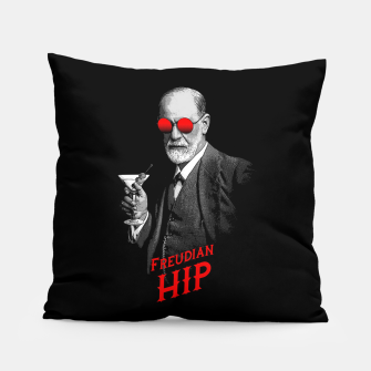 Thumbnail image of Hipster Psychologist Sigmund Freud Pillow, Live Heroes
