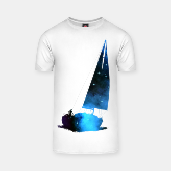 Thumbnail image of Cosmic Sailing (Silhouette) T-Shirt, Live Heroes