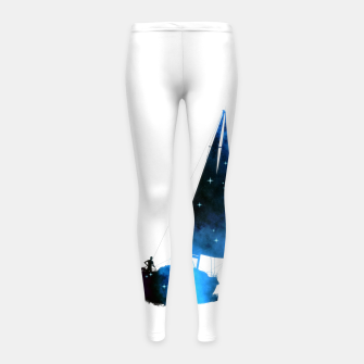 Thumbnail image of Cosmic Sailing (Silhouette) Kinder-Leggins, Live Heroes