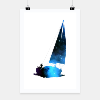 Thumbnail image of Cosmic Sailing (Silhouette) Plakat, Live Heroes