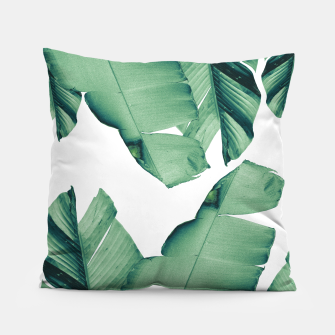 Thumbnail image of Banana Leaves Tropical Vibes #4 #foliage #decor #art Kissen, Live Heroes