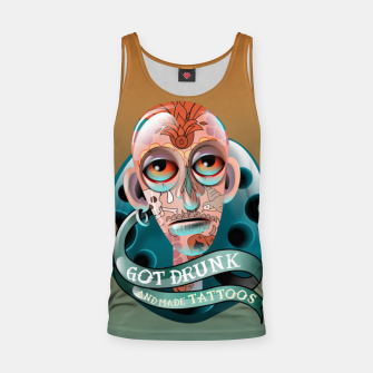 Miniatur Got Drunk and Made Tattoos Tank Top, Live Heroes