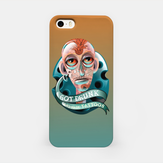 Miniatur Got Drunk and Made Tattoos iPhone Case, Live Heroes