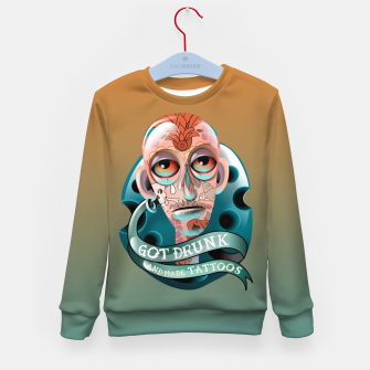 Miniatur Got Drunk and Made Tattoos Kid's sweater, Live Heroes