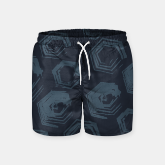 Thumbnail image of Open Polygons of Steel Swim Shorts, Live Heroes