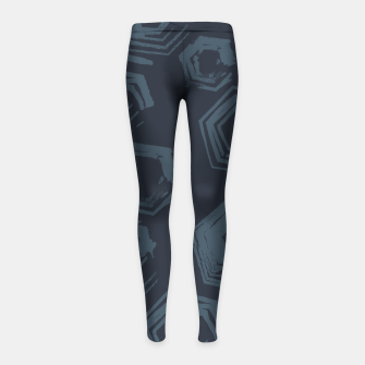 Thumbnail image of Open Polygons of Steel Girl's leggings, Live Heroes