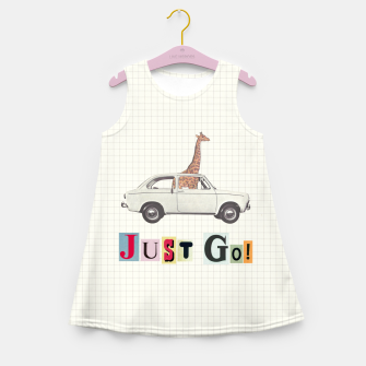 Miniatur JUST GO! Girl's summer dress, Live Heroes