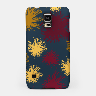Thumbnail image of Red Ochre and Yellow Flowers on Blue Samsung Case, Live Heroes