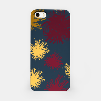 Thumbnail image of Red Ochre and Yellow Flowers on Blue iPhone Case, Live Heroes