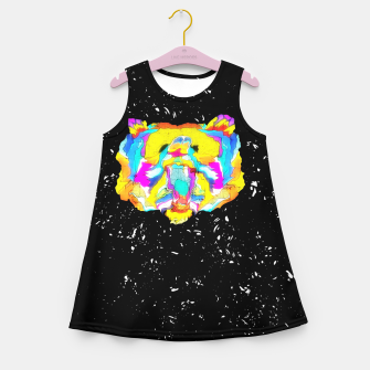 Miniature de image de PSYCHEDELIC BEAR Girl's summer dress, Live Heroes