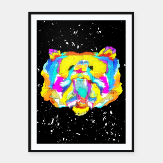Miniaturka PSYCHEDELIC BEAR Framed poster, Live Heroes