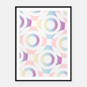 Thumbnail image of Concentric circular rings Framed poster, Live Heroes