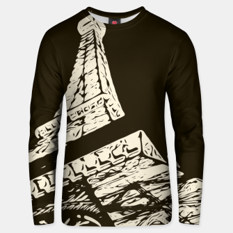 Miniaturka drawing Eiffel Tower, Paris in black and white Unisex sweater, Live Heroes