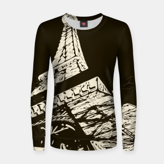 Miniaturka drawing Eiffel Tower, Paris in black and white Women sweater, Live Heroes