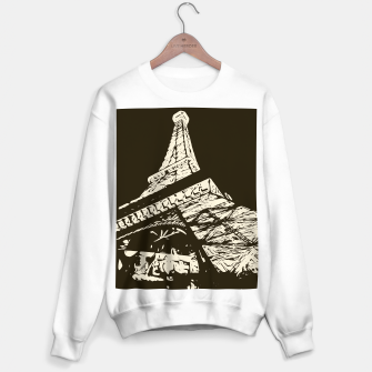 Miniaturka drawing Eiffel Tower, Paris in black and white Sweater regular, Live Heroes