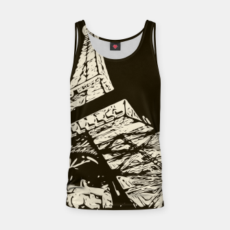 Miniaturka drawing Eiffel Tower, Paris in black and white Tank Top, Live Heroes