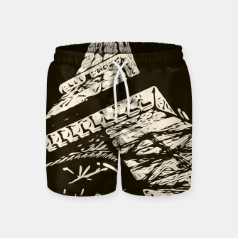 Miniaturka drawing Eiffel Tower, Paris in black and white Swim Shorts, Live Heroes