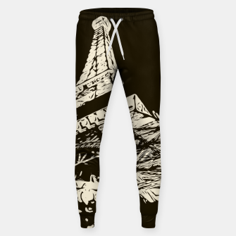 Miniaturka drawing Eiffel Tower, Paris in black and white Sweatpants, Live Heroes