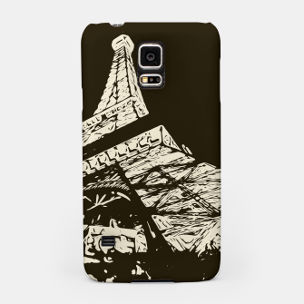Miniaturka drawing Eiffel Tower, Paris in black and white Samsung Case, Live Heroes