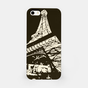 Miniaturka drawing Eiffel Tower, Paris in black and white iPhone Case, Live Heroes