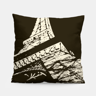 Miniaturka drawing Eiffel Tower, Paris in black and white Pillow, Live Heroes
