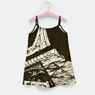 Miniaturka drawing Eiffel Tower, Paris in black and white Girl's dress, Live Heroes