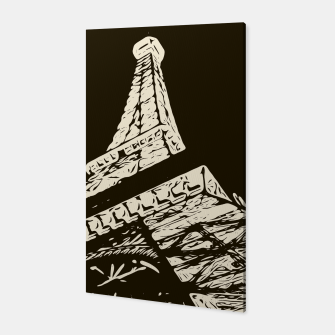Miniaturka drawing Eiffel Tower, Paris in black and white Canvas, Live Heroes